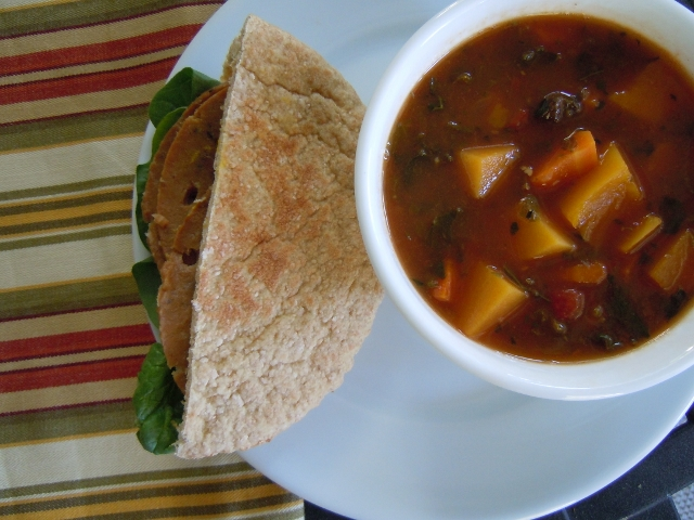 Winter Vegetable Soup & Field Roast Sandwich