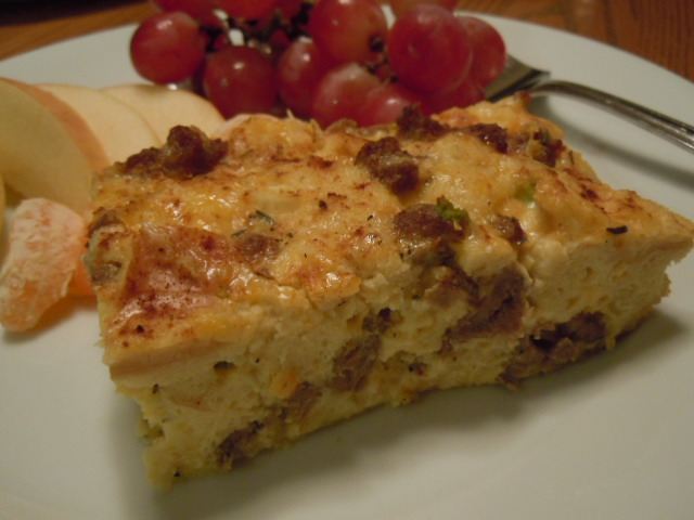 Sausage Cheese Egg Casserole