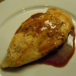 Chicken Cutlets with Cherry-Balsamic Pan Sauce